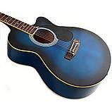 Набір акустична гітара Bandes AG-851C BL 39+ стійка, фото 3