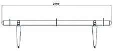 Скамья металлическая Мелодия Без Спинки цинкование (Продмаш-ТМ), фото 2