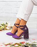 Кожаные босоножки женские на каблуке, фото 7