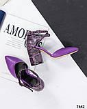 Кожаные босоножки женские на каблуке, фото 2