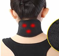 Self heating neck Турмаліновий магнітний бандаж-комір SUNROZ Self Heating Neck Guard Band для шиї Чорний (SUN6540)