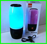 Мобильная Bluetooth FM Колонка с Цветной Подсветкой в Стиле JBL Pulse Портативная с Блютуз