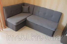 Мягкий кухонный уголок со спальным местом и ящиком (Серый )