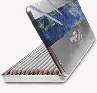 Цветные карандаши 12 цветов Marco 7100-12TN Марко Рафин (металлическая коробка)