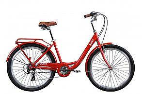 """Велосипед Dorozhnik RUBY  26"""", рама-17""""планет., красный, с задн.багажн. St, крыло St 2020"""