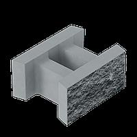Блок декоративный несъемной опалубки (500х400х235) серый колотый Золотой Мандарин