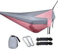 Гамак Нейлоновый Туристический Travel hammock с карманом