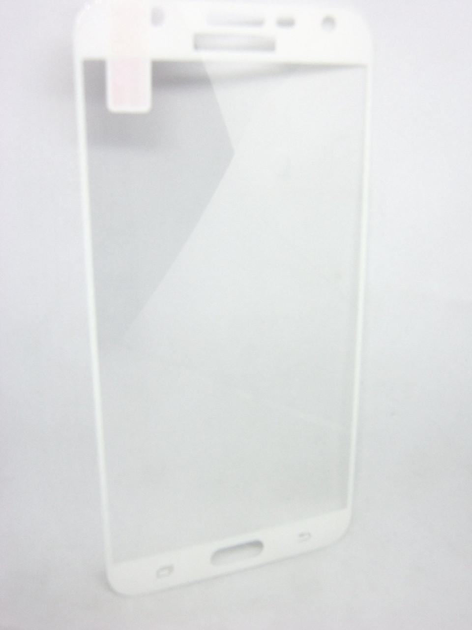 Защитное стекло Full Screen Tempered Glass для Samsung Galaxy J7 2016 (J710) White белый