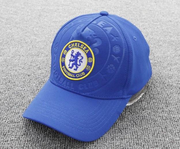 Кепка Челси синяя хлопок