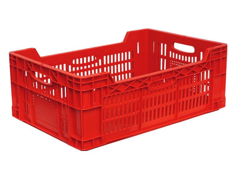 Пластиковый ящик 600х400х220/180 мм сплошное дно