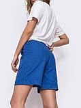 Льняные  шорты  с  поясом на резинке и косыми карманами  ЛЕТО, фото 2