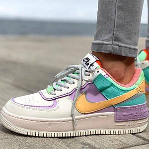 Женские кроссовки Nike Air Force 1 Low Shadow Pastel, найк аир форс, жіночі найки аір форси