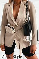Женский стильный пиджак +сумочка