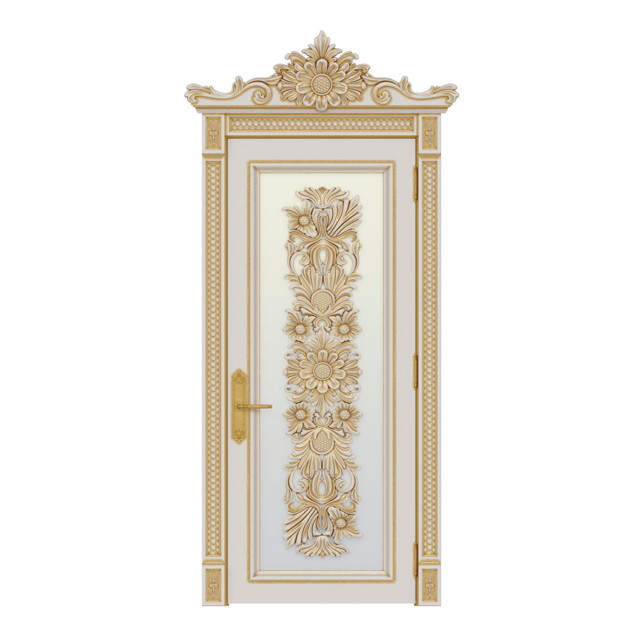 Межкомнатная дверь Casa Verdi Palazzo 5 из массива ольхи с золотой патиной со стеклом