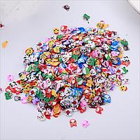 Фимо нарезка Животные для дизайна ногтей, 100 шт/упак, фото 1