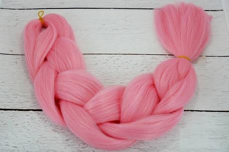 Канекалон розовый 60 см, 100 грамм, фото 2