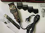Профессиональная машинка для стрижки волос Gemei GM - 1018 с 4 насадками декорированная, фото 6
