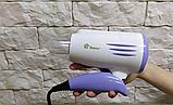 Фен для волос Domotec MS-3328 2000 Вт, Фен дорожный складная ручка, фото 3