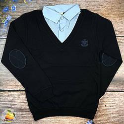 Школьный батник и рубашка (Обманка) Размеры: 10,11,12,13 лет (20400)