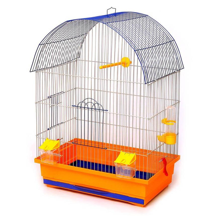 Клетка для птиц Лорі Виола 66 х 47 х 30 см Оранжевая, фото 2