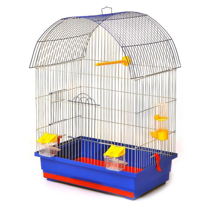 Клетка для птиц Лорі Виола 66 х 47 х 30 см Синяя, фото 2