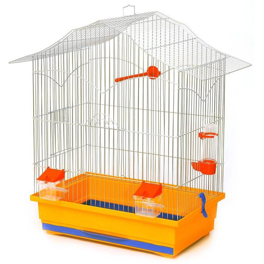 Клетка для птиц Лорі Лори 62 х 47 х 30 см Желтая, фото 2