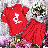"""Літній костюм шорти і топ """"Tik-tok"""" для дівчинки."""