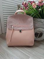 Сумка-рюкзак рюкзак женский сумка на плечо с натуральной замши в разных цветах розовый