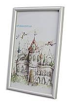 Рамка 35х35 из пластика - Белая - со стеклом