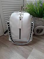 Сумка-рюкзак рюкзак женский сумка на плечо со съёмной  ручкой в разных цветах белый