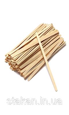 Мішалка дерев'яна 140 мм (береза) для кави та чаю