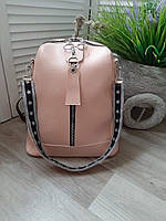 Сумка-рюкзак рюкзак женский сумка на плечо со съёмной  ручкой в разных цветах розовый