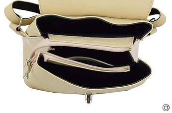 Женский рюкзак  кожзам Case 646 беж лак беж, фото 3