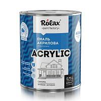 Эмаль акриловая белая глянцевая Acrylic Rolax 0,75л (без запаха краска ролакс)