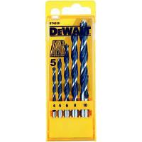 Набор сверл DeWALT по дереву, d=4,5,6,8,10мм. (DT4535)