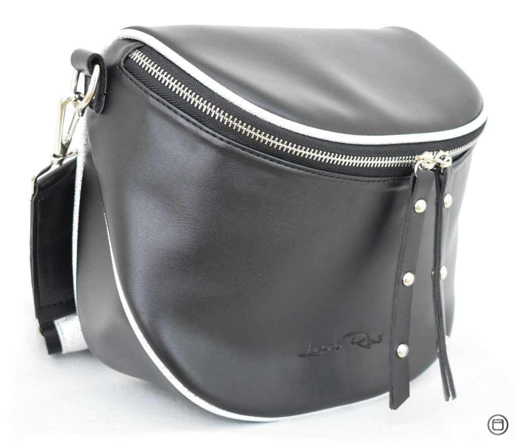 Женская сумка кожзам Case 603 черная г серебро н