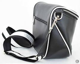 Женская сумка кожзам Case 603 черная г серебро н, фото 2