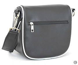 Женская сумка кожзам Case 603 черная г серебро н, фото 3