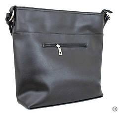 Жіноча сумка кожзам Case 611 сумка чорна г, фото 3