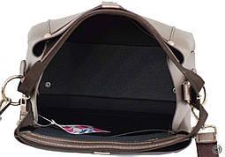 Женская сумка кроссбоди Case 574 серебряная бронза, фото 3