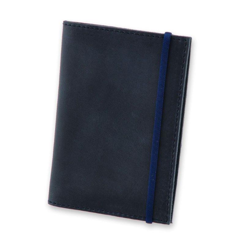 Кожаная обложка для паспорта 1.0 синяя