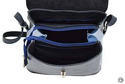 Жіночий рюкзак кожзам Case 647 синій блакитний, фото 3