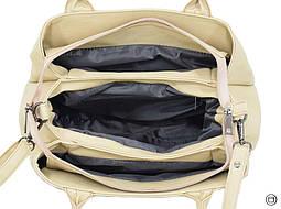 Класична жіноча сумка 627 беж лак беж, фото 3