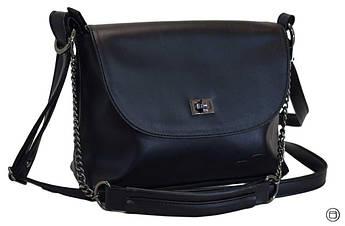 Женская сумка кроссбоди кожзам Case 526 черная г, фото 2