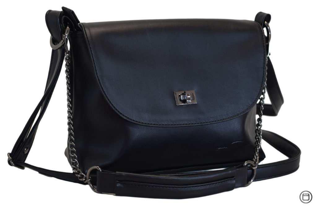 Женская сумка кроссбоди кожзам Case 526 черная г