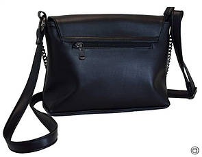 Женская сумка кроссбоди кожзам Case 526 черная г, фото 3