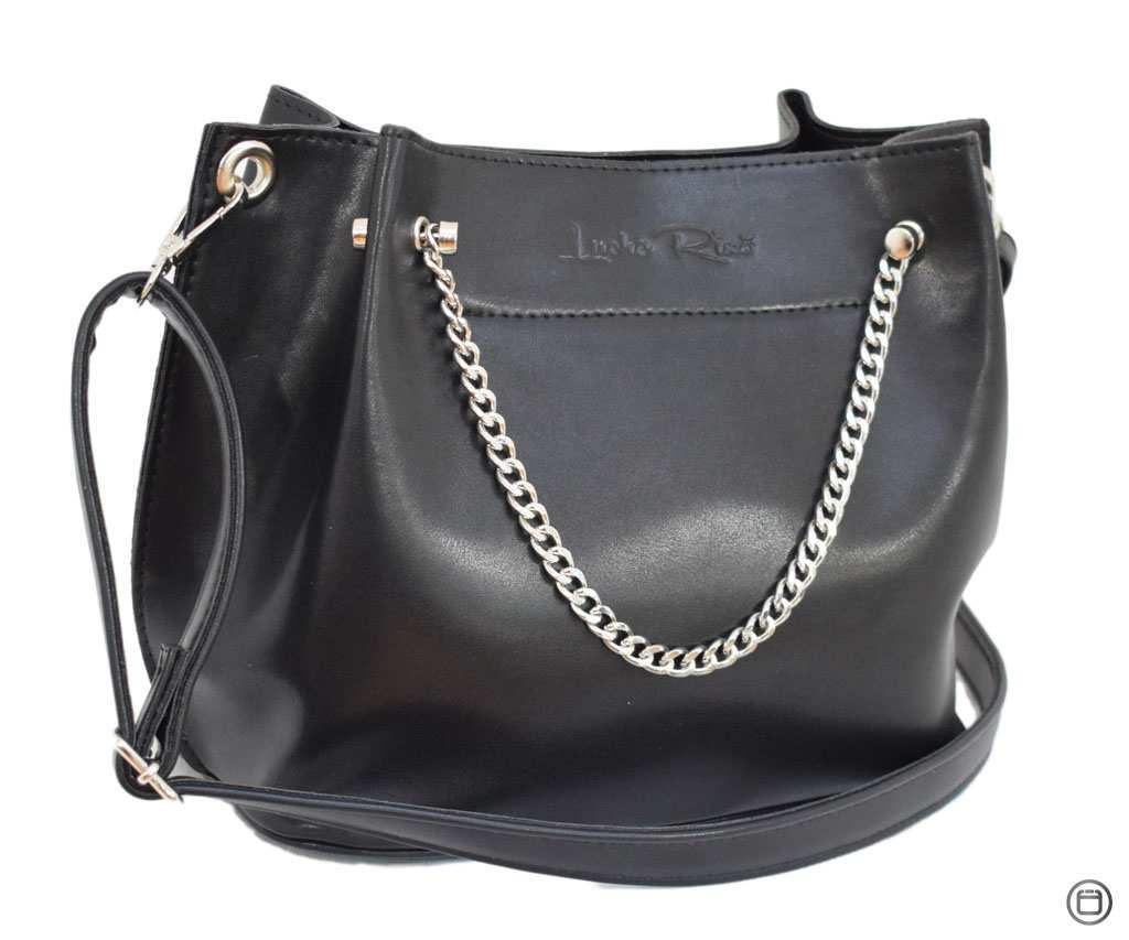 Красива жіноча сумка екокожа 524 чорна