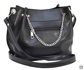 Красивая женская сумка экокожа 524 черная, фото 3