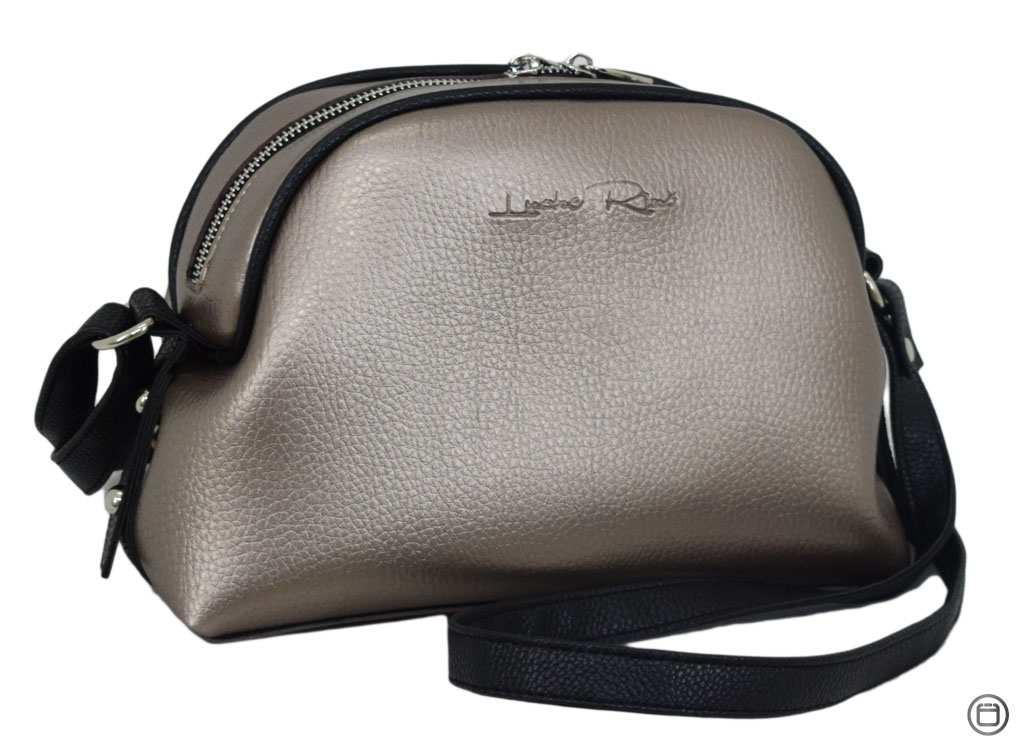 Жіноча сумка через плече 629 срібло бронза
