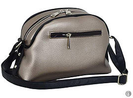 Жіноча сумка через плече 629 срібло бронза, фото 2